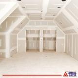 divisória de gesso drywall para quarto