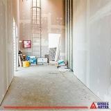 parede de drywall acústica Além Linha